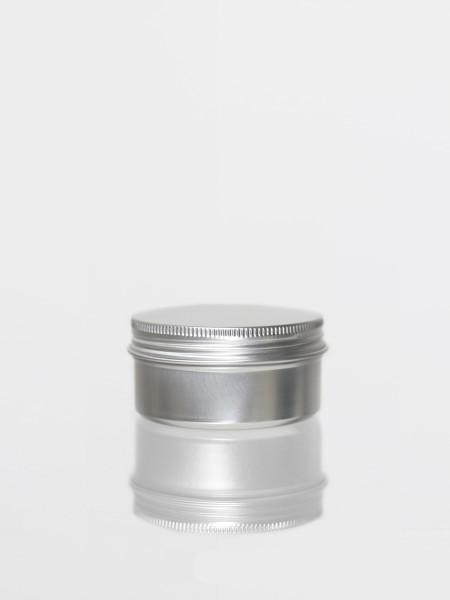 Dose Silber - Aluminiumdose für 100gr-Größe